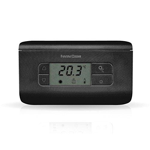 Fantini Cosmi CH117 Termostato Ambiente a batterie, 3 Temperature, Nero