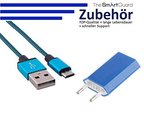 26-Micro USB + adattatore blu 1m Blau + Netzteil LGL (Lgl Usb)