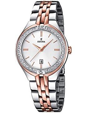 Festina Damen-Armbanduhr Analog Quarz Edelstahl F16868/2