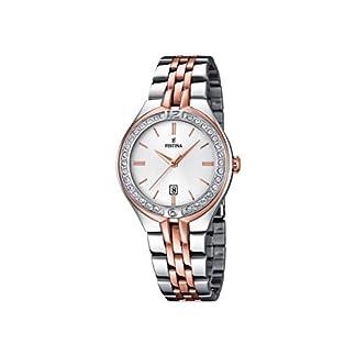 Festina F16868/2 – Reloj de Pulsera Mujer, Acero Inoxidable, Color Plateado