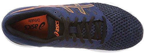 Asics Gel-Exalt 4, Chaussures de Running Homme Bleu (Dark Blue/black/shocking Orange 4990)