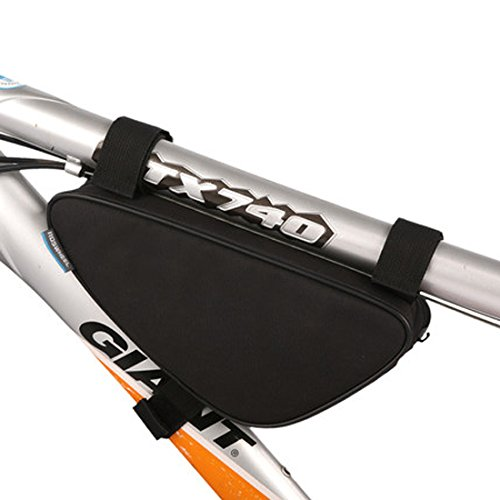 Yougle Dreieckige Fahrrad-/Mountain-Bike-Tasche / Rahmentasche Schwarz