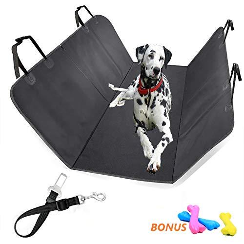 SICIFALY Coprisedile Per Cani - Protezione Sedili Posteriore 150X135centimeter - Set Telo Auto Per Cane e Cintura Di Sicurezz