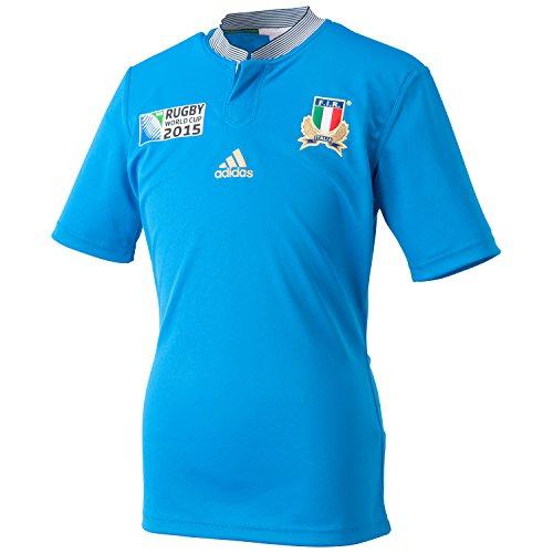 adidas RWC I H JSY Herren T-Shirt L blau/weiß (Baumwoll-pique-rugby)