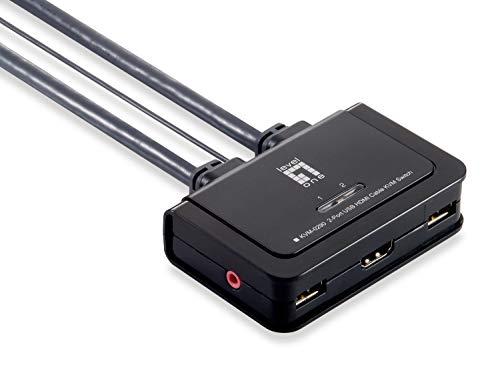 LevelOne KVM-0290 Kabel-KVM-Switch 2-Ports HDMI USB