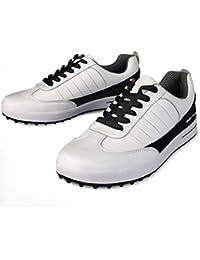 FUBULE Zapatos de Golf Zapatos sin Puntas para Hombres Impermeable Antideslizante Ligero Resistente a la abrasión Al Aire Libre