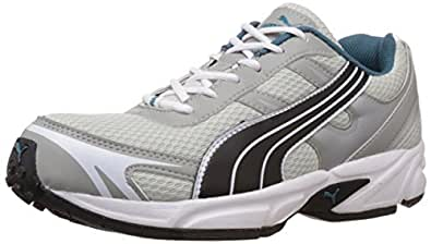 Puma Men's CARLOS Ind. Limestone, Black and College Blue Running Shoes - 9 UK/India (43 EU)