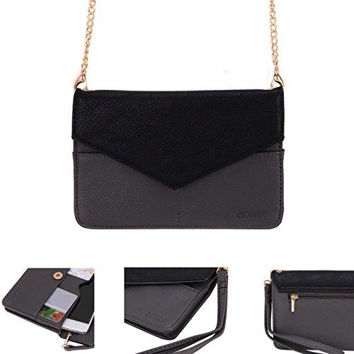 Conze da donna portafoglio tutto borsa con spallacci per Smart Phone per Unnecto Air 4.5/5.0/5.5 Grigio grigio grigio