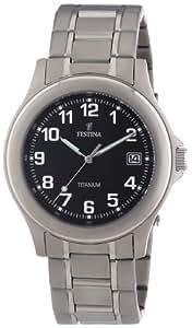 Festina - F16458-3 - Montre Homme - Quartz Analogique - Cadran Noir - Bracelet Acier Argent