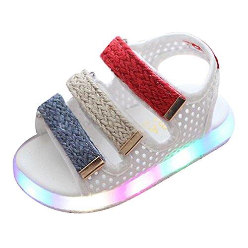 LED Sandale Schuhe Jungen Mädchen Kleinkind Strand Schuhe Weiß Size 21 (Tommy Hilfiger Für Kleinkind-mädchen)