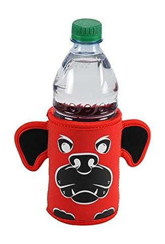 kidkusion INC. Bulldog Maskottchen Flasche Bud, rot/schwarz