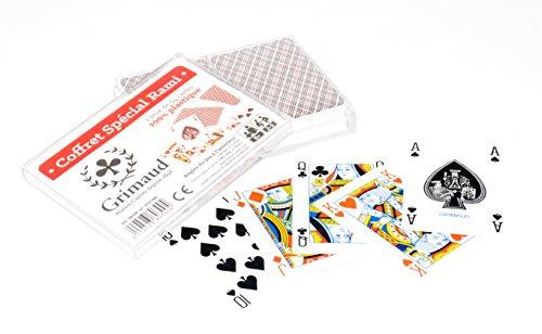 Grimaud-380300-Rami especial-Juego De cristales 2 barajas De cartas 54