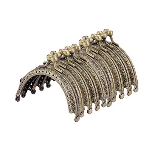 SUPVOX Metallbogen-Rahmen-Kuss-Haken-Verschluss-halbkreisförmige Geldbeutel-Taschen-Rahmen-Verschluss-Verschluss-Bronze-Ton DIY Handwerks-Rahmen-Kuss-Verschluss-Verschluss 10PCS -