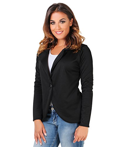 KRISP® Women Boyfriend Blazer One Button Lapel Collar Tailored Jacket Test