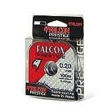 Falcon Nylon Fluorocoated Prestige, Persicus Bl.20 Filo da Pesca, Grigio Chiaro, 0.2