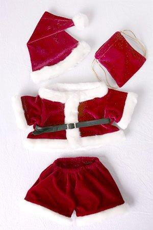 Costume Ensemble Père Noël Pour Habiller Ourson