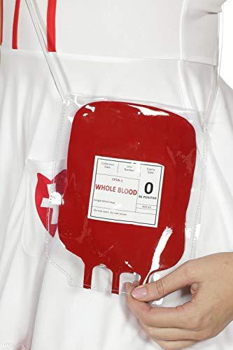 Tasche Umhängetasche Krankenschwester Blut Blutbeutel Träger Karneval Halloween