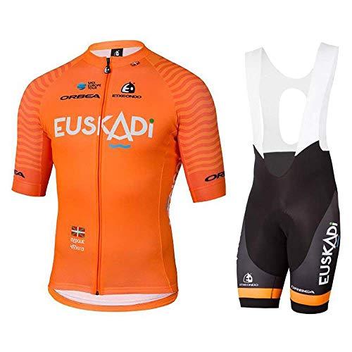 Giow Radtrikots, atmungsaktives Kurzarm-Radtrikot + 3D-Gel-Pad-Trägerhose für Pro Bicycle Team-Bekleidung, Feuchtigkeitstransport. - Team Bekleidung Trikot Hat