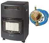 Stufa gas infrarossi ventilata 4,2 Kw + Termoventilatore Nova Turbo sensore O2 REGOLATORE TUBO FASCETTE OMAGGIO