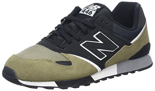 New Balance U446v1, Baskets Mixte Adulte, Vert (Green/Black), 42 EU