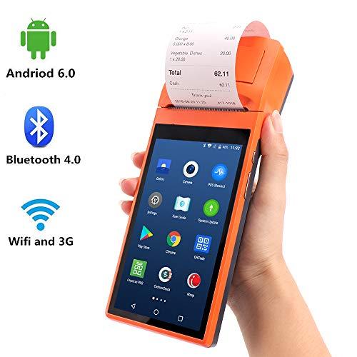 [ Android 6.0 ] 5.5 Pollici Palmare Data Collector MUNBYN POS Terminale con stampante WIFI Bluetooth Caricabatterie Culla per stampare Ricevuta ordine per negozio al dettaglio Distribuzione alimentare