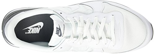 Nike Internationalist, Chaussures de Sport Homme Blanc (White/White/Dark Grey)