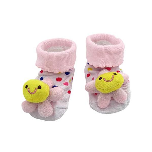 MAYOGO Bebé Calcetines Niña Corto Antideslizante Soles Acogedor Dibujos Animados 3D Recién Nacido Niño Bebé Calcetines… 4