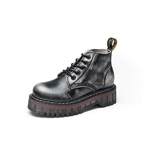 Top Shishang Bottines compensées à Talons compensés pour Femmes Martin Boots Chelsea Boots and Ankle Boots