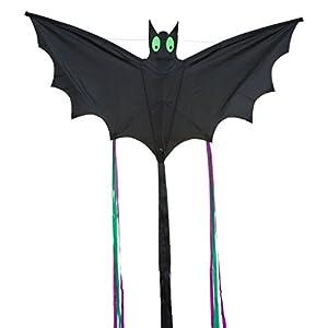 Invento 100040 Bat Black L - Cometa, diseo de murcilago, Color Negro