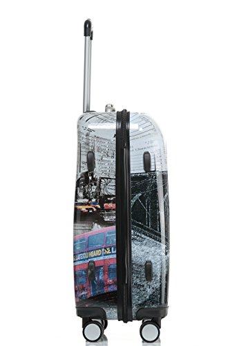 Polycarbonat Hartschale Koffer 2060 Trolley Reisekoffer Reisekofferset Beutycase 3er oder 4er Set in 12 Motiven (NewYork) - 4