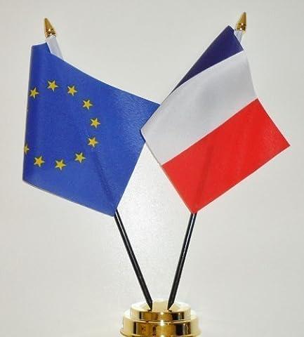 L'Union européenne et de l'amitié porte-Drapeau de Table France - 25 cm (10