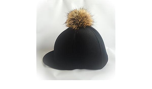 Copertura per cappello da fantino con pom pom in finta pelliccia ... 2599e1cad755