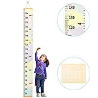 Kids Height Chart ZoomSky Baby Growth Chart Removable Roll Up Hanging Measurement Ruler Wall Decor for Height Record Children