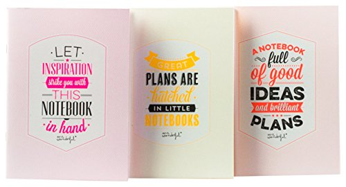 Mr. Wonderful WOA02473 - Paquete de 3 libretas