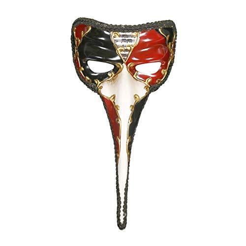Person Kleine Kostüm - QWhing Festival-Maske Maskerade Halloween-Maske Ganze Person Kleine Lange Nase Handgemalte Maske Kostüm Maske (Farbe : Red)