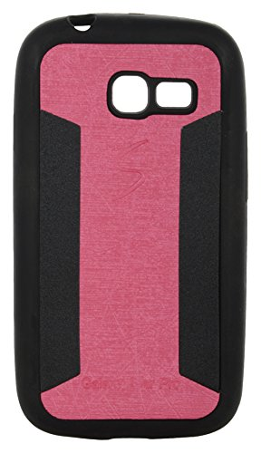 iCandy™ 2 Color Soft Lather Finish Back Cover For Samsung Galaxy Star Pro S7260 /S7262 - Pink  available at amazon for Rs.115