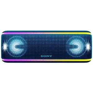 Sony SRSXB41L - Altavoz portátil Bluetooth (Extra Bass, Modo Sonido Live, Party Booster, Luces de Fiesta llamativas, Conector USB para Cargar Smartphone), Color Azul