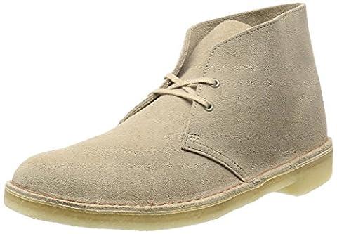 Clarks Originals Desert Boot, Herren Kalt gefüttert Desert Boots Kurzschaft Stiefel & Stiefeletten, Beige (Sand), 44.5
