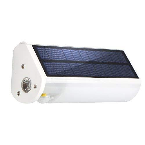Brilex Solar Sensor Lights mit USB-Aufladung, 5-stufige Helligkeit, LED-Taschenlampe für den Außenbereich, Infrarot-Solar-Wandleuchte für Outdoor, Camping, Wandern
