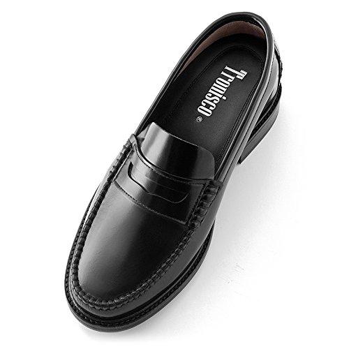 Scarpe con Rialzo da Uomo Che Aumentano l'Altezza Fino a 7 cm. Fabbricate in Pelle. Modello Arosa Nero
