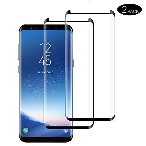 DOSMUNG Panzerglas Schutzfolie Kompatibel für Samsung Galaxy S8, [2 Stück] Galaxy S8 gehärtetes Glas, Anti-Kratzer, Bläschenfrei, Ultra Transparenz Full HD, Panzerglasfolie Displayschutzfolie für S8