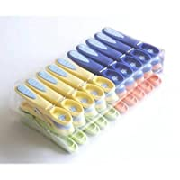 Caraselle 20 Extra Strong Plastic Non-Slip Clothes Lines Pegs