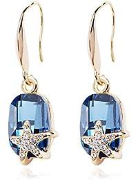 SWEETV Swarovski Kristall Ohrhänger Ohrringe - Geburtstag Valentinstag Jahrestag Geschenk für Frauen