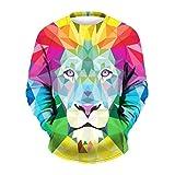 Kanpola Sweatshirt Herren 3D Druck Langarmshirt Männer Pullover Winter Printed Outwear (EU-50/CN-L/XL, B8)