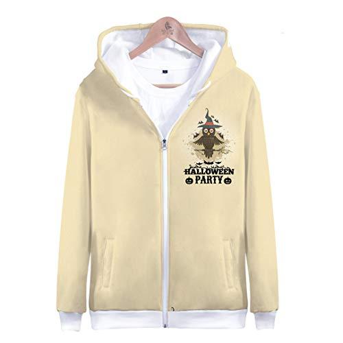 3D Halloween Pumpkin Ghost Scary Hoodies Women/Men Kpop Hip Hop Harajuku Autumn Zipper Jackets Sweatshirts Top Coats Oversize 4XL 3D Halloween jacket2 ()