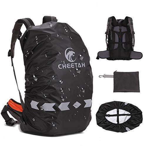 CHEETAH Outdoor 100% wasserdichte Rucksack-Regenhüllen (45L-80L) mit verstellbarem Anti-Rutsch-Gurt und reflektierendem Streifen ...