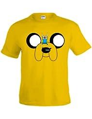 Camiseta Hora de Aventuras Jake amarilla manga corta (Talla: 11-12 años)