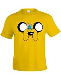 Camiseta Hora de Aventuras Jake amarilla manga corta (Talla: 9-10 años)