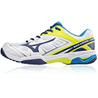 save off d09c3 9bb7a Mizuno Wave Exceed All Court Tennis Shoes Blue
