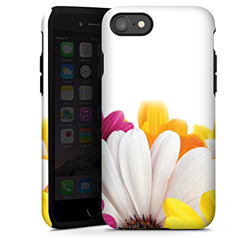 Apple iPhone X Silikon Hülle Case Schutzhülle Blumen Margerite Blüten Tough Case glänzend